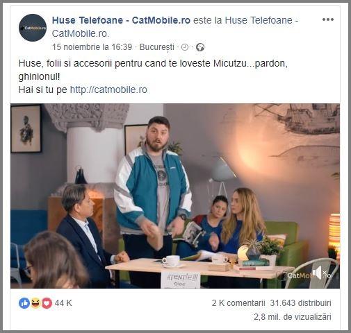 reclama facebook video